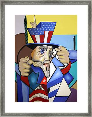 Uncle Sam 2001 Framed Print by Anthony Falbo