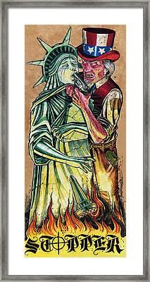 Uncle Sam Framed Print by David Shumate