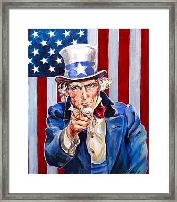 Uncle Sam Framed Print