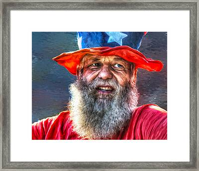 Uncle Sam Framed Print
