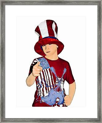 Uncle Sam Framed Print by Susan Leggett