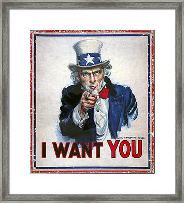 Uncle Sam Wants You Framed Print by Daniel Hagerman