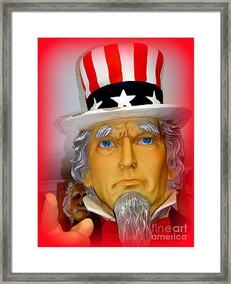 Uncle Sam Wants You Framed Print