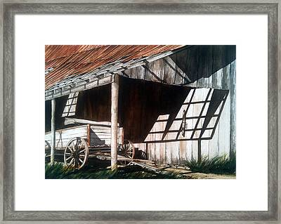 Uncle Seifs Wagon  Framed Print by Don F  Bradford