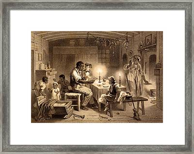 Uncle Toms Cabin, Plate 1 From Uncle Framed Print by Adolphe Jean-Baptiste Bayot