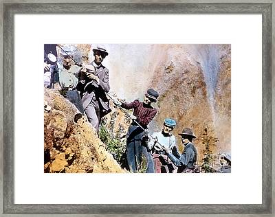 Uncle Toms Trail Yellowstone National Park Framed Print by NPS Photo