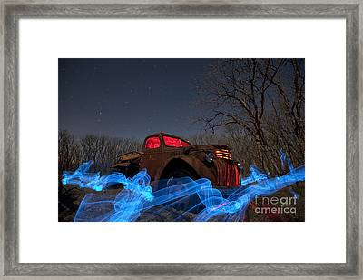 Uncle Tom's Water Truck Framed Print