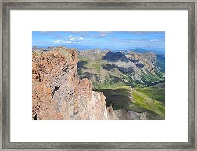 Uncompahgre Peak Summit Framed Print by Aaron Spong