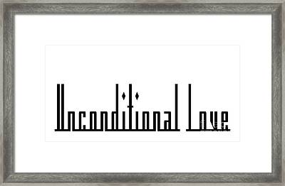 Unconditional Love 1 Framed Print by Andee Design