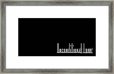Unconditional Love 1 B Framed Print by Andee Design