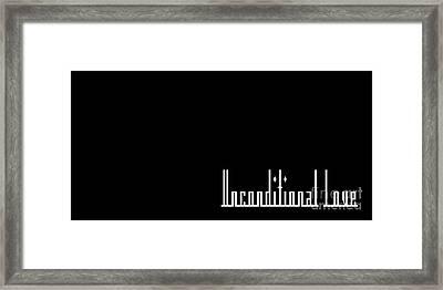 Unconditional Love 1 B Framed Print