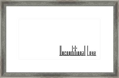 Unconditional Love 2 Framed Print by Andee Design