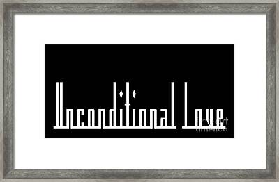 Unconditional Love 2 B Framed Print by Andee Design
