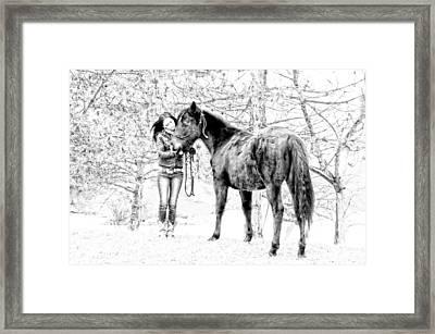 Unconditional Love Framed Print by Frank Sciberras