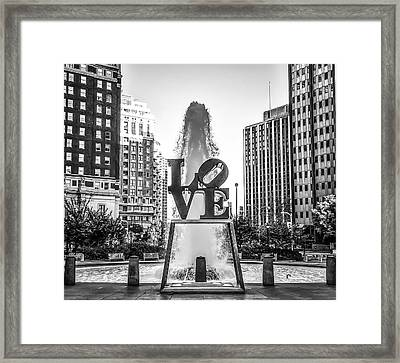 Unconditional Love In Black And White Framed Print by Bill Cannon