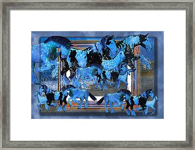 Unconfined World Confined Framed Print