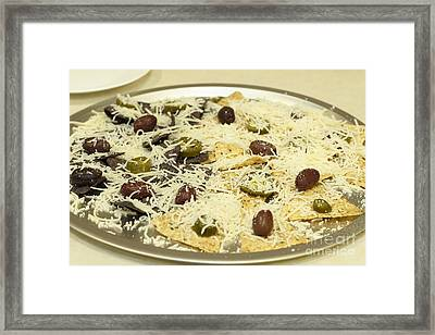 Uncooked Chips And Cheese Framed Print by Lee Serenethos
