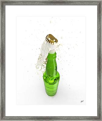 Uncorked Bottle Of Beer Framed Print