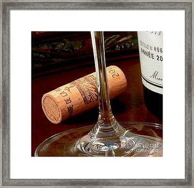 Uncorked Framed Print by Jon Neidert
