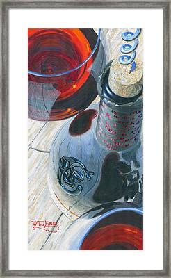 Uncorked Framed Print by Will Enns