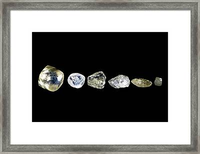 Uncut Diamonds Framed Print
