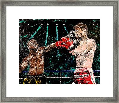 Undefeated - Floyd Mayweather Jr  Framed Print by Mark Moore