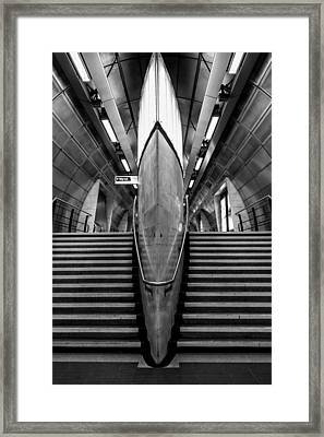 Undeground Shapes Framed Print