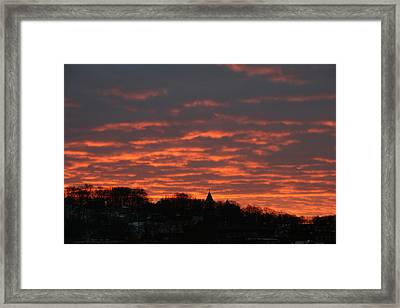 Framed Print featuring the photograph Under A Blood Red Sky by Neal Eslinger