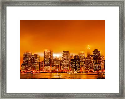 Under A Blood Red Sky Part One Framed Print by Alex Hiemstra