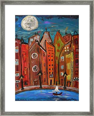 Under A Magical Moon Framed Print by Mary Carol Williams