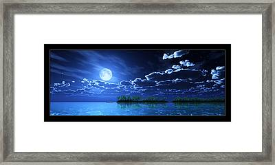 Under A Silvery Moon... Framed Print