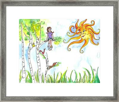 Under A Sunny Sky Framed Print by Kelly Walston