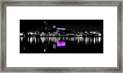 Under Amour At Night - Vibrant Color Splash Framed Print