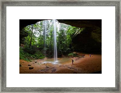 Under Ash Cave Framed Print by Haren Images- Kriss Haren