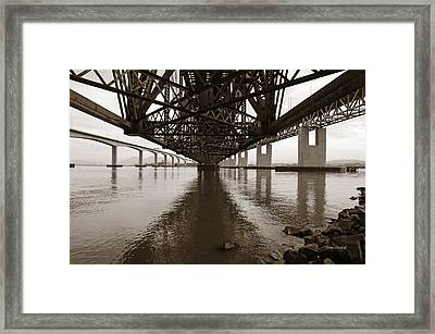 Under Bridges Framed Print by Donna Blackhall