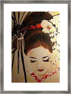 Under Cover Girl Framed Print