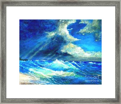 Framed Print featuring the painting Under Currents by Marie-Line Vasseur