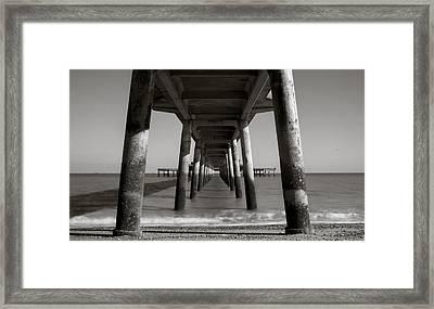 Under Deal Pier Framed Print by Ian Hufton