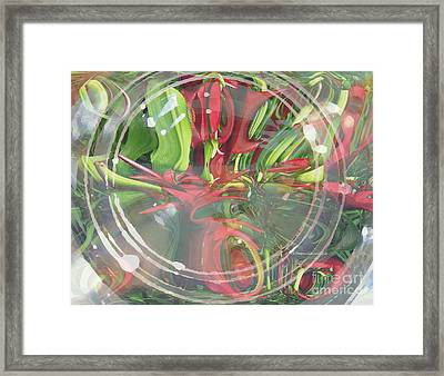 Under Glass Framed Print