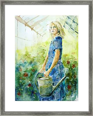 Under Glass Framed Print by P Maure Bausch