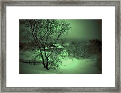 Under Green Moon Framed Print