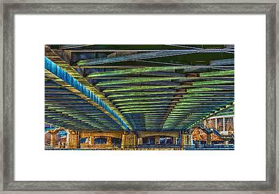 Under Hennepin Avenue Bridge Framed Print by Bill Tiepelman