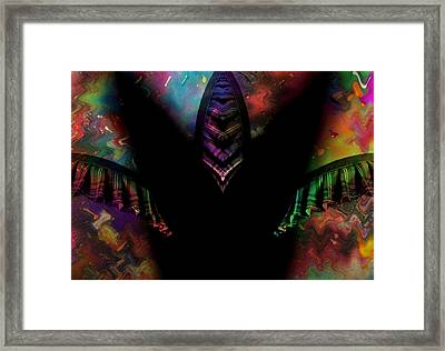 Under Her Skirt Framed Print