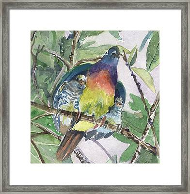Under Her Wings Framed Print by Mindy Newman