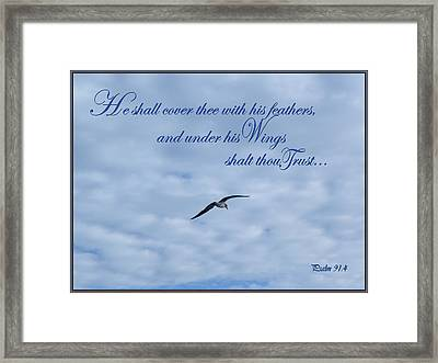 Under His Wings Framed Print