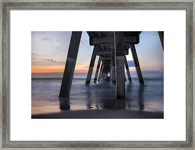 Under Johnnie Mercer's Pier Wrightsville Beach Nc Framed Print