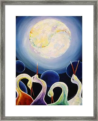 Under The Moonlight Framed Print