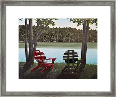 Under Muskoka Trees Framed Print