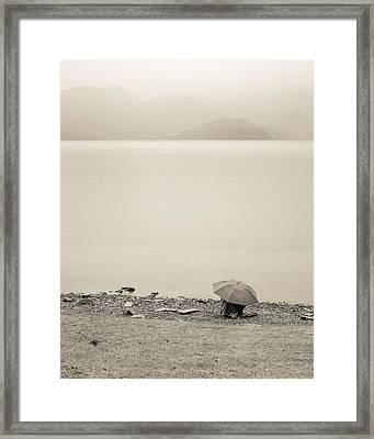 Under My Umbrella Framed Print by Cristel Mol-Dellepoort