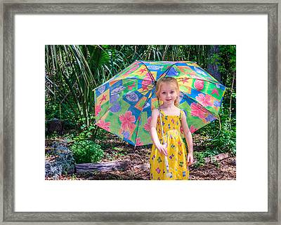 Framed Print featuring the photograph Under My Umbrella by Rob Sellers